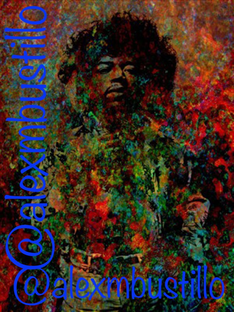 Jimi Hendrix: Standing At The Watchtower Portrait/@alexmbustillo