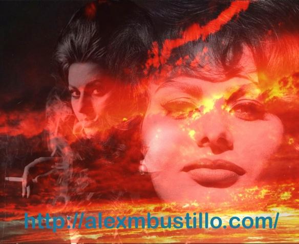 Sofia Loren Villani Scicolone Sunset