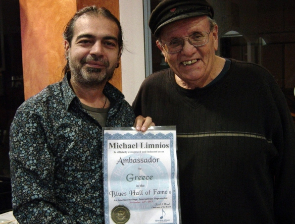 Blues Hall of Fame Ambassador Michael Limnios & President Nick Gravenites