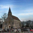 L'église Saint Etienne, Coudray-Montceaux, France