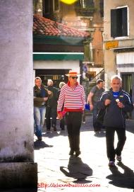 Gondolieri Strolling in Venice