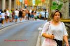 Walking Along La Rambla, Barcelona, España