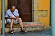 Writing In Barrio Sarria, Barcelona, España