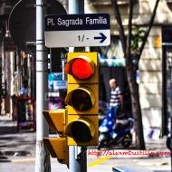 Sign: Pl. Sagrada Familia, Barcelona, España