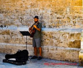 Musician, Streets of Valencia, España Cathedral