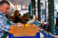 Working in Valladolid Market, España