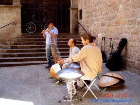 Behind the Basilica of La Mercè in the Barrio Gotico quarter of old Barcelona.