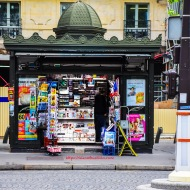 Newsstand, Boulevard Malesherbes at Rue Boissy-d'Anglas, Paris, France