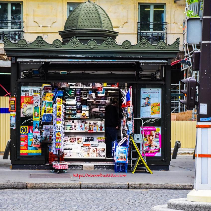 Newsstand, Boulevard Malesherbes at Rue Boissy-d'Anglas, Paris, France