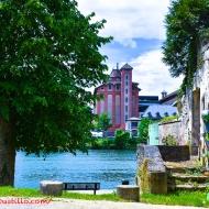 Moulins Soufflet from 45 Rue du 14 Juillet (Across The Seine River) 91100 Corbeil-Essonnes, FRANCE