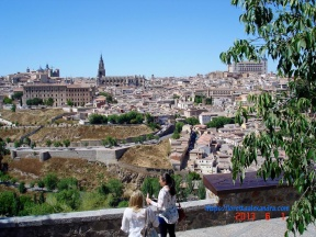 Overview of Toledo, Spain, located on the Iberian Peninsula