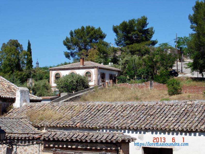 View of rooftops in Toledo, Spain
