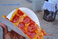 Nothing like a slice of New York style pizza