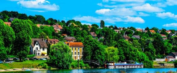 Corbeil-Essonnes Across The Seine Panoramique