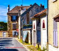 Streets of Milly-la-Forêt, Île-de-France, France