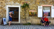 Portrait: Street Gallery, Grande Rue, Barbizon, France