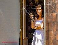 Shopkeeper, Barrio Sarria, Barcelona, Spain