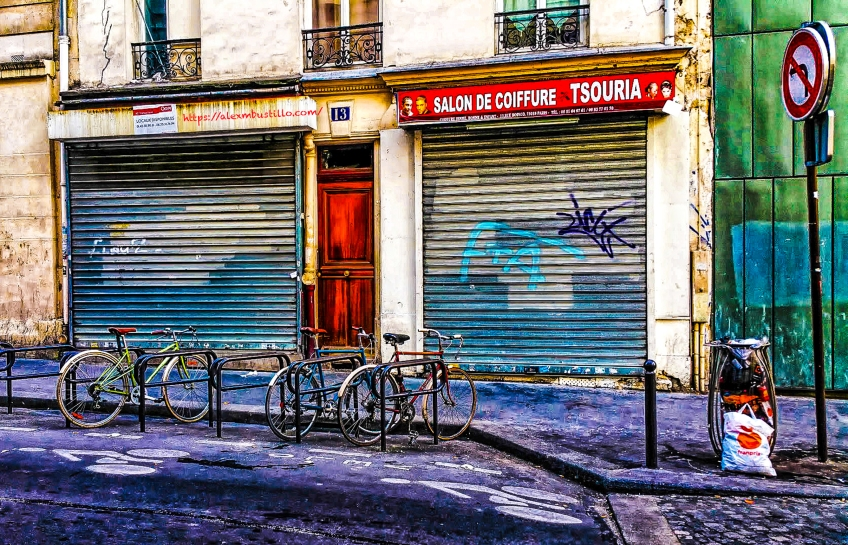 Bicycles, 13, rue Boinod, Paris, France