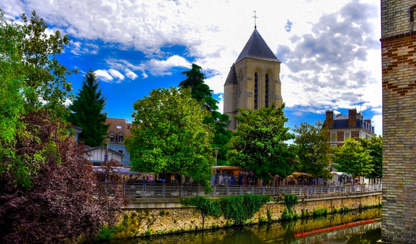 Cathédrale Saint-Spire de Corbeil-Essonnes As Seen From 1 Rue Feray, Corbeil-Essonnes, France