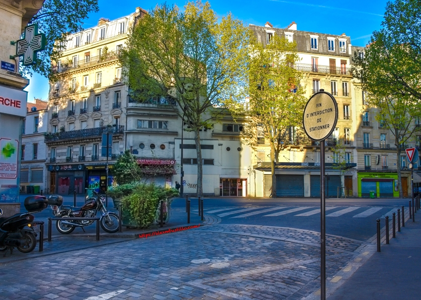 Rue Du Roi D'Alger at Boulevard Ornano, 75018 Paris, France