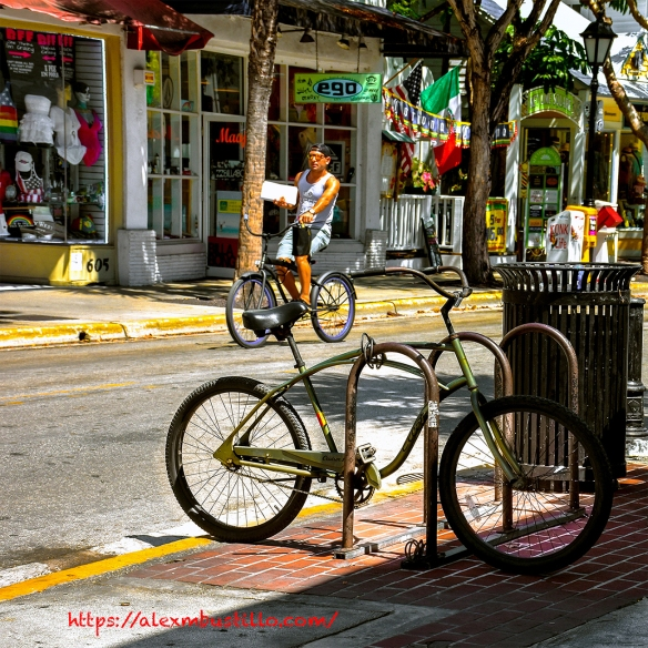 Key West, Florida - Bikes & Duval Street, Key West