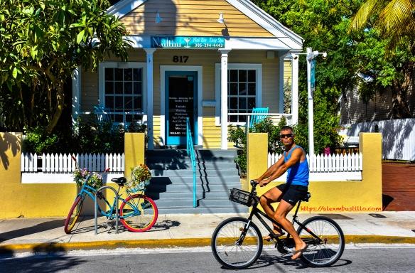 Street Portrait, Biking, Key West, Florida