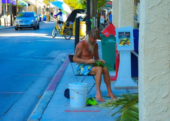 Key West Street Portrait Streetweaving