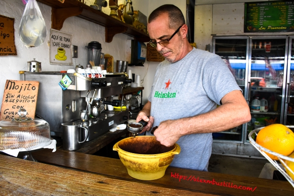 Little Havana Portrait - Aqui Se Toma Cafe Cubano