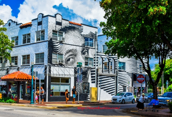 Little Havana Street Portrait - Graffiti & Architecture