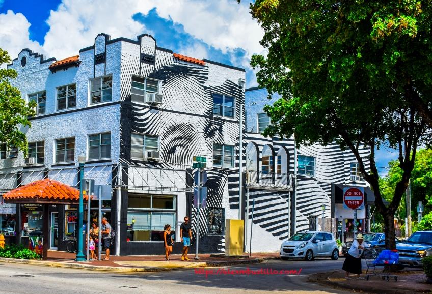 Little Havana Street Portrait - Graffiti & Architecture