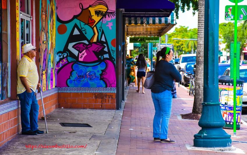 Little Havana Street Portrait - Graffiti On The Sidewalk