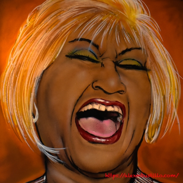 Little Havana Portrait - Celia Cruz - Azucar Ice Cream Company, 1503 SW 8th St, Miami, FL 33135