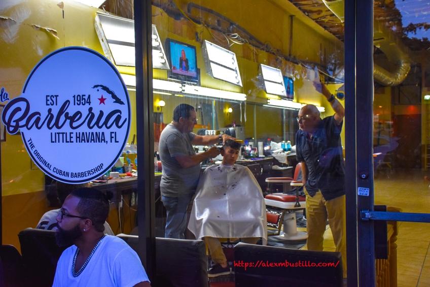 Little Havana Street Portrait - La Barberia Est 1954, Little Havana, Miami, FL
