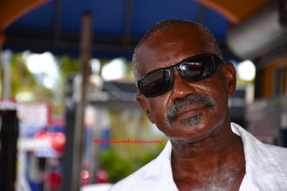 Little Havana Street Portrait - Man In Black Glasses