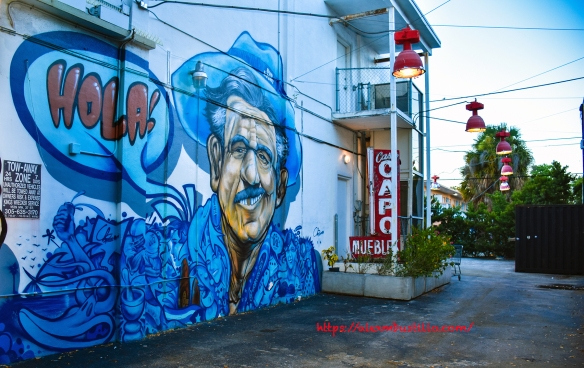 "Little Havana Street Portrait Graffiti - ""Hola!!!"""