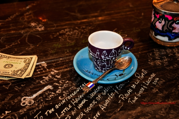 Little Havana - Taberna del Pintor Agustin Gainza -Cuban Coffee, French Spoon, Engraved Key