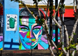 Wynwood Portrait, Miami, Florida - Peeking