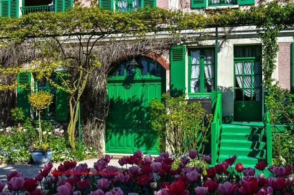 Giverny Facade Maison Claude Monet