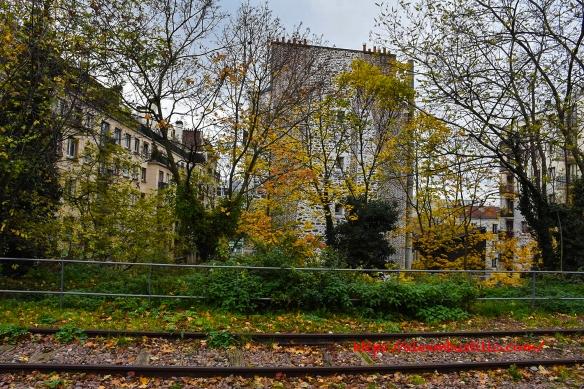 Chemin de fer de Petite Ceinture Rooftops, Porte de Versailles, Paris