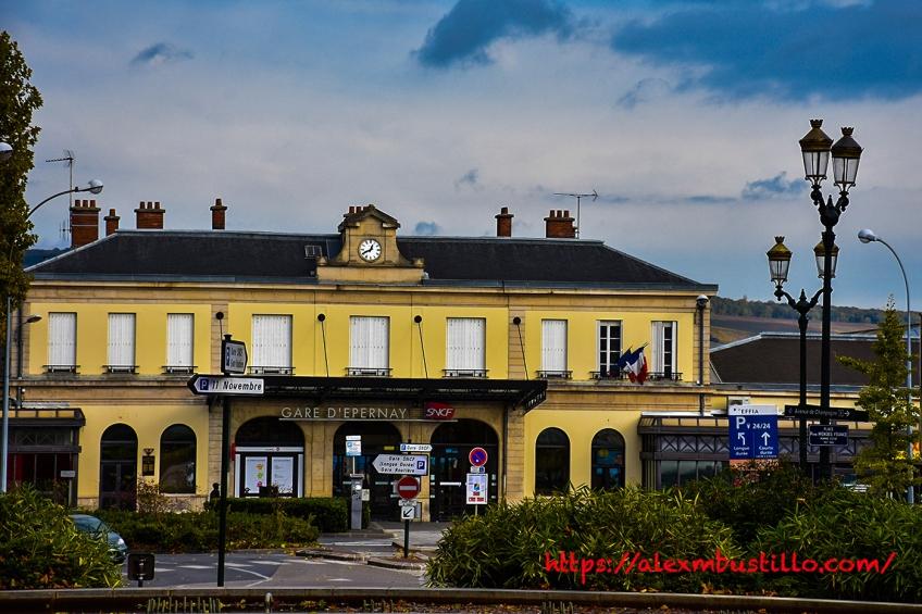 Train Station, Centre-Ville, Épernay, France