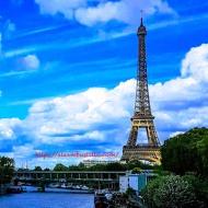Seine Tour Eiffel Seen From RER C
