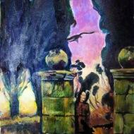 Amanecer en el cementerioI