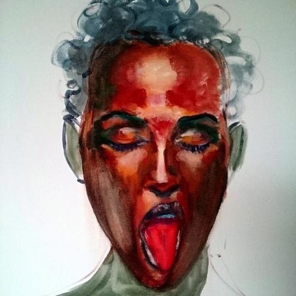 Retrato en Rojo