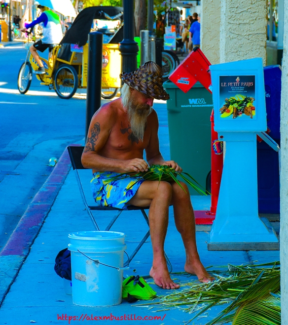 Key West Portrait: Streetweaving