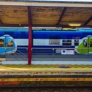 Autoportrait: Le train hurle à travers Juvisy.