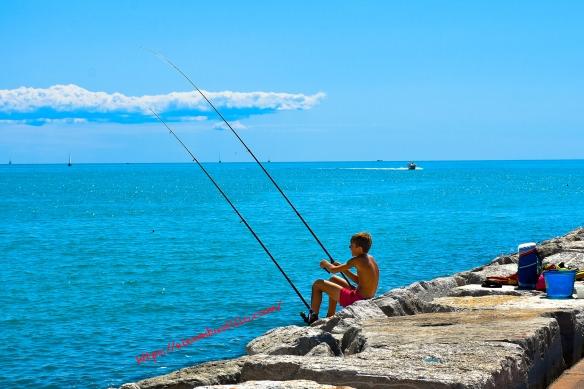 Caorle Pier Fishing, Caorle, Venice, Veneto, Italy