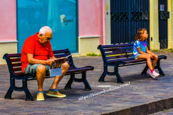 One Person Per Bench, Caorle, Venice, Veneto, Italy