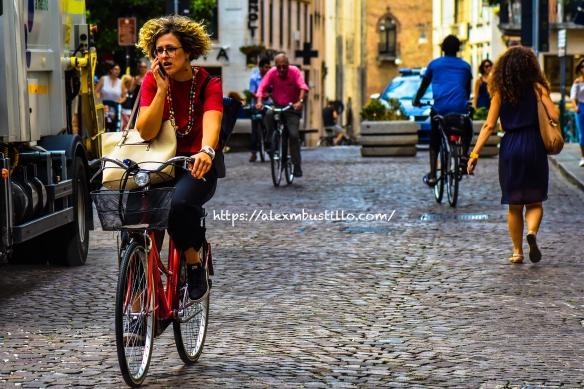 Treviso Center Bike Lane, Treviso, Veneto, Italy
