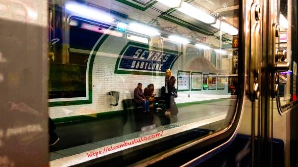 Metro Sevres-Babylone, Ligne 10 Paris RATP